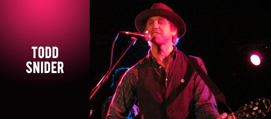 Todd Snider at Manchester Music Hall